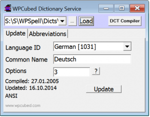 Dictionary service application