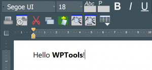 WPTools text editor